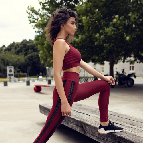 Kulturistická mikina IRON Clothing - Rule Nr.1 Trust yourself, červená