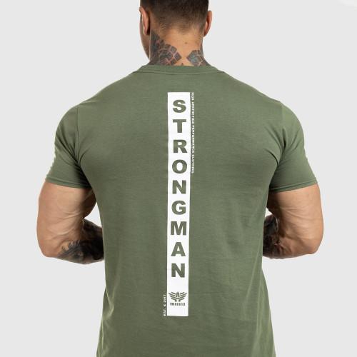 Kulturistické tričko Iron Camo Style, vojenská zelená