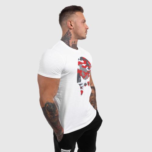 Ultrasoft kulturistické tričko Iron Crown, červené