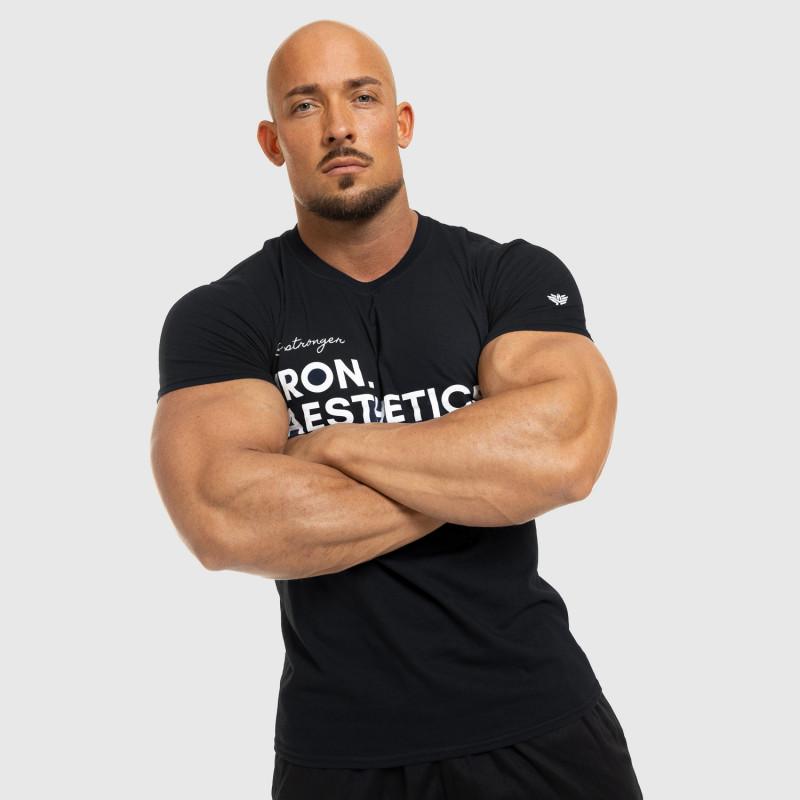 Ultrasoft tričko Aesthetics Push your limits, čierne