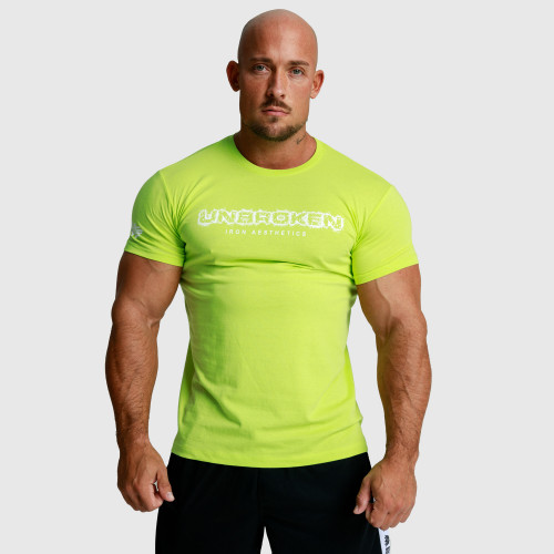 Pánske fitness tričko Iron Aesthetics Rectangle, vojenská zelená
