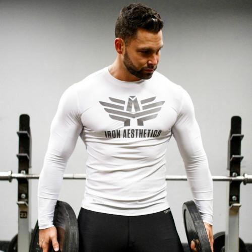 Pánske fitness tričko Iron Aesthetics Kettle Skull, B&G