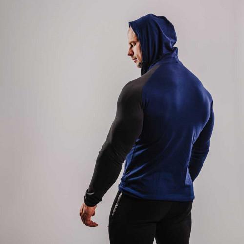 Pánske tričko s dlhým rukávom Beast00 Hooded, sivé