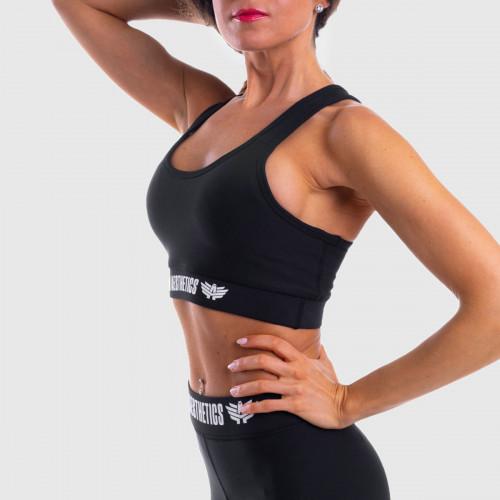Dámska športová podprsenka STUFFED - Iron Aesthetics, čierna