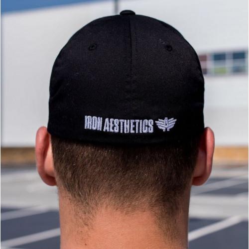 Pánska šiltovka Iron Aesthetics FlexFit, čierna