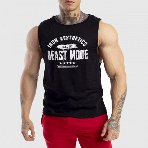 Pánske fitness TIELKO Iron Aesthetics Beast Mode Est. 2017, čierne