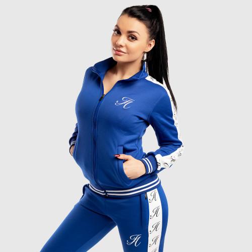 Dámska Fitness mikina so zipsom Iron Aesthetics Striped, modrá