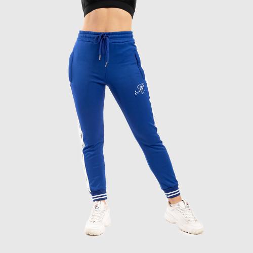 Dámske fitness tepláky Iron Aesthetics Striped, modré