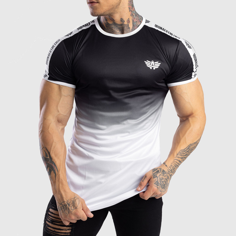 Pánske tričko Iron Aesthetics FADED STRIPES, čierno-biele-1
