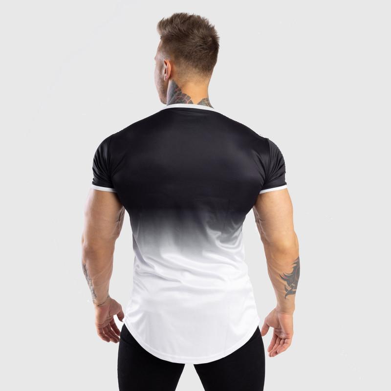 Pánske tričko Iron Aesthetics FADED STRIPES, čierno-biele-2