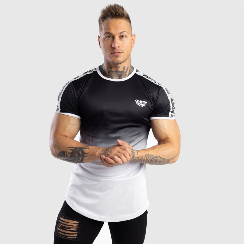 Pánske tričko Iron Aesthetics FADED STRIPES, čierno-biele-6