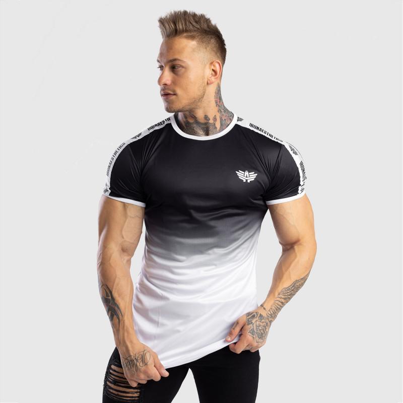 Pánske tričko Iron Aesthetics FADED STRIPES, čierno-biele-7
