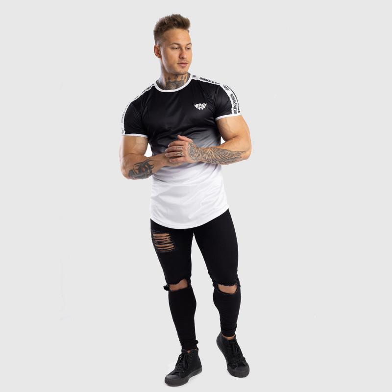 Pánske tričko Iron Aesthetics FADED STRIPES, čierno-biele-9