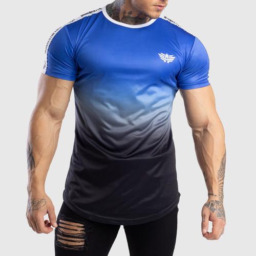 Pánske tričko Iron Aesthetics FADED STRIPES, modré