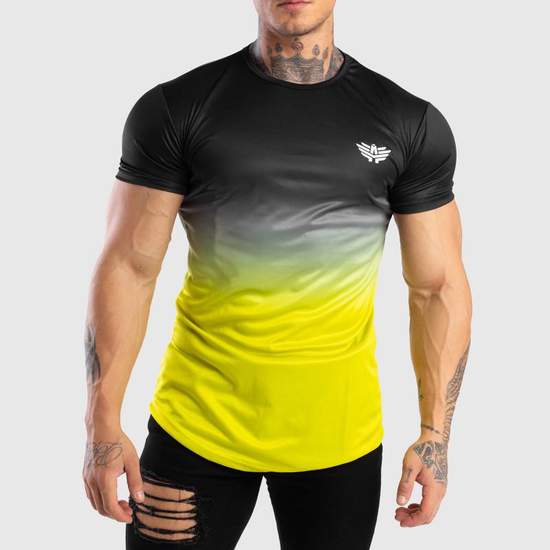 Pánske tričko Iron Aesthetics FADED, čierno-zelené-1