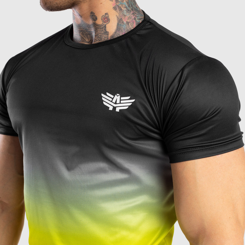 Pánske tričko Iron Aesthetics FADED, čierno-zelené-3