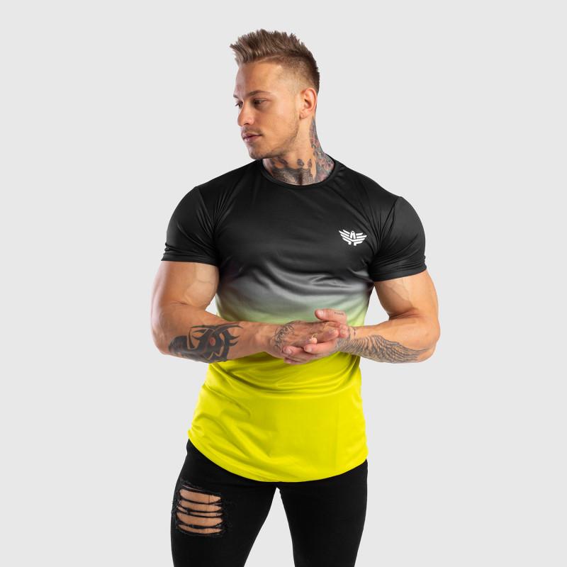 Pánske tričko Iron Aesthetics FADED, čierno-zelené-5