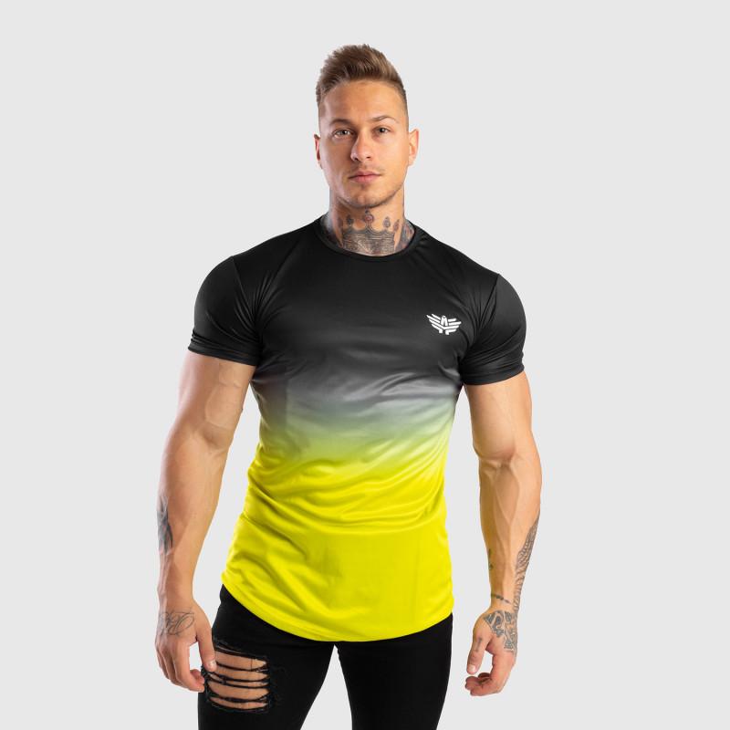 Pánske tričko Iron Aesthetics FADED, čierno-zelené-6