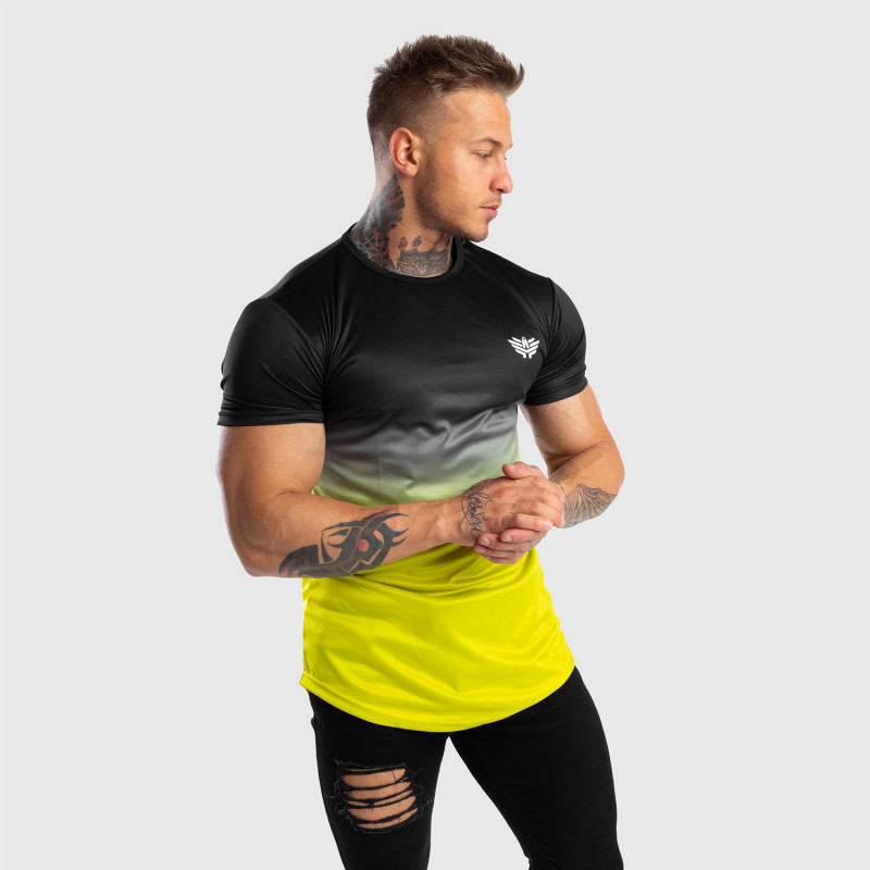 Pánske tričko Iron Aesthetics FADED, čierno-zelené-7