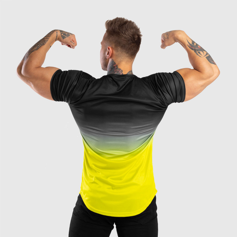 Pánske tričko Iron Aesthetics FADED, čierno-zelené-8