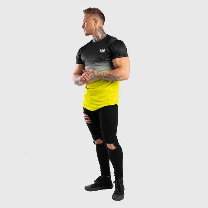 Pánske tričko Iron Aesthetics FADED, čierno-zelené-9