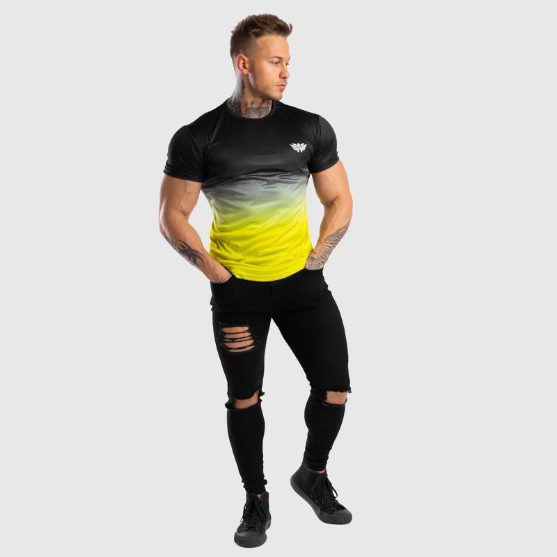 Pánske tričko Iron Aesthetics FADED, čierno-zelené-10