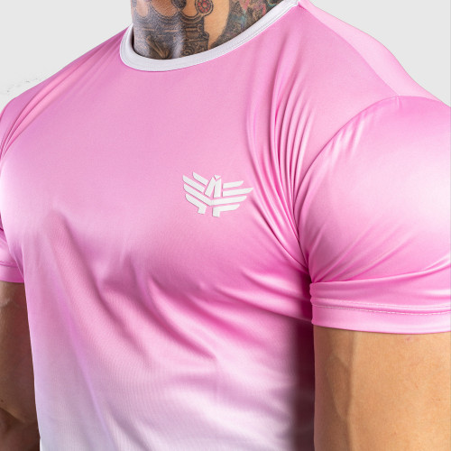 Pánske tričko Iron Aesthetics FADED, ružové