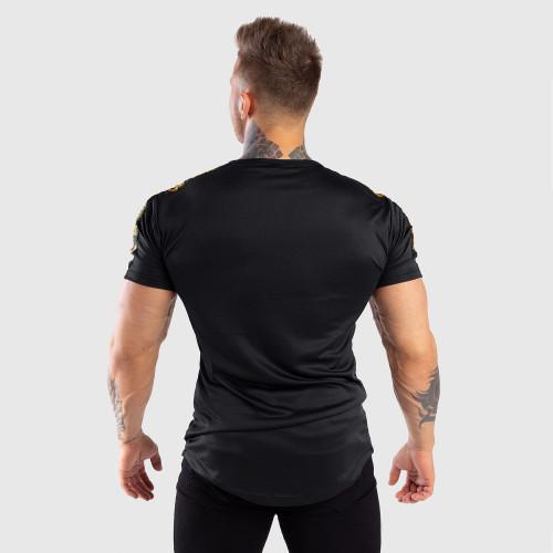 Pánske tričko Iron Aesthetics STRIPES, čierno-zlaté