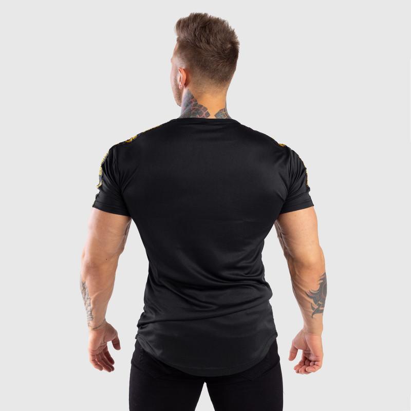 Pánske tričko Iron Aesthetics STRIPES, čierno-zlaté-2