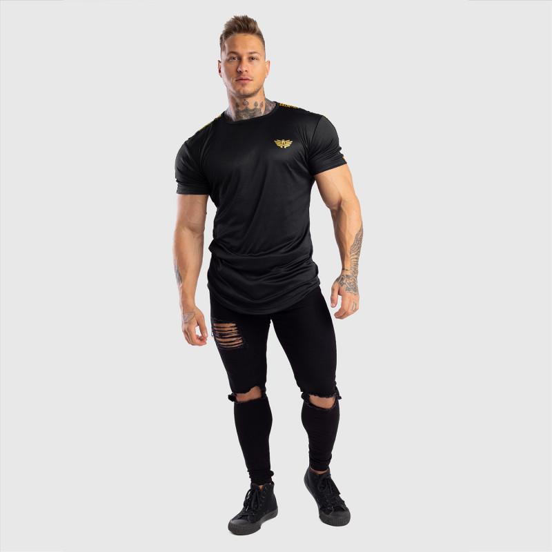 Pánske tričko Iron Aesthetics STRIPES, čierno-zlaté-10