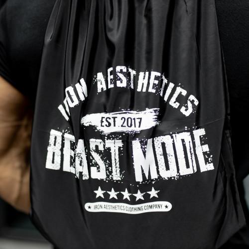 Sťahovací vak Iron Aesthetics BEAST MODE est. 2017, čierny