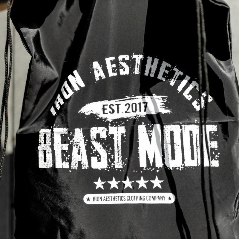 Sťahovací vak Iron Aesthetics BEAST MODE est. 2017, čierny-6
