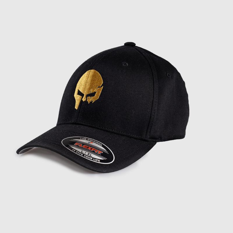 Pánska šiltovka Iron Aesthetics FlexFit SKULL GOLD, čierna-2
