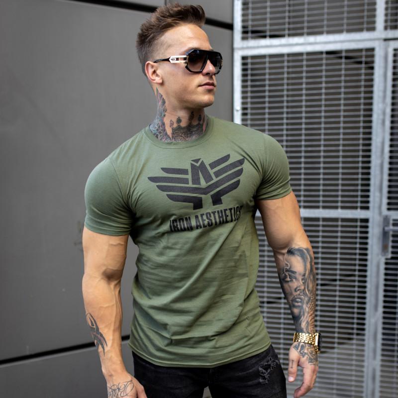 Ultrasoft tričko Iron Aesthetics, vojenská zelená-2