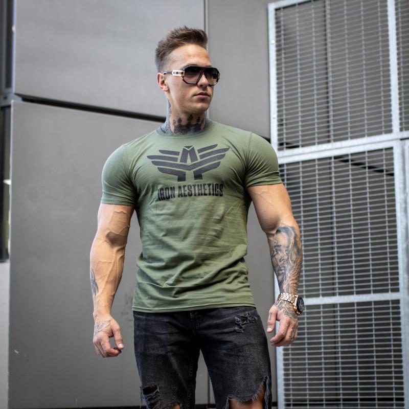 Ultrasoft tričko Iron Aesthetics, vojenská zelená-4