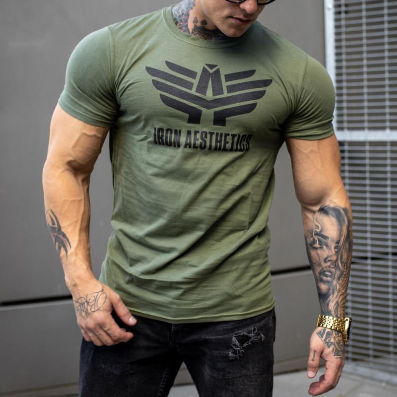 Ultrasoft tričko Iron Aesthetics, vojenská zelená-1