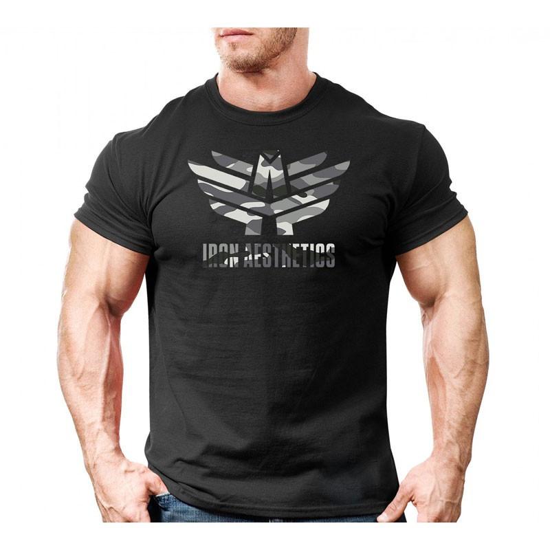 Ultrasoft tričko Iron Aesthetics, čierny maskáč-4