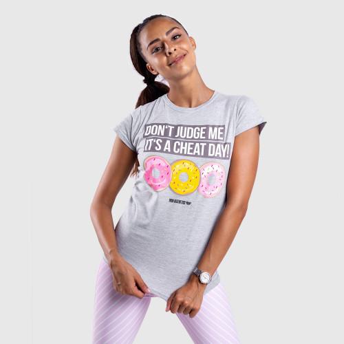 Dámske fitness tričko Iron Aesthetics DONUTS, sivé