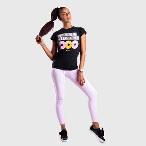 Dámske fitness tričko Iron Aesthetics DONUTS, čierne