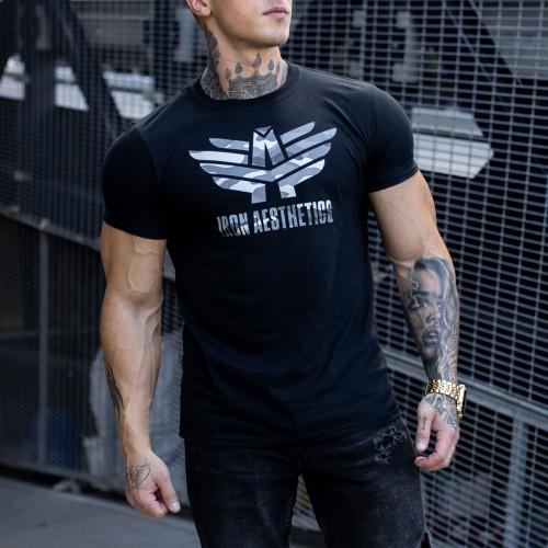 Ultrasoft tričko Iron Aesthetics, čierny maskáč