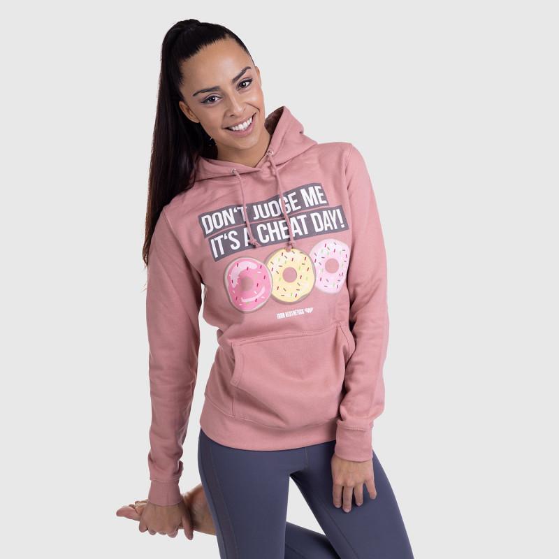 Dámska Fitness mikina DONUTS, ružová-4