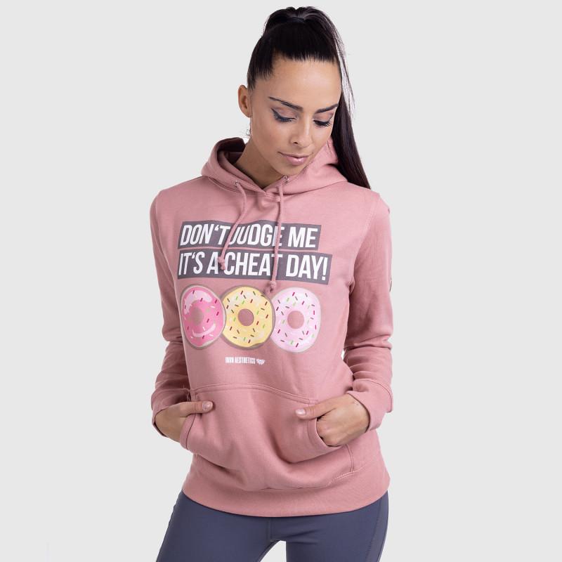 Dámska Fitness mikina DONUTS, ružová-5