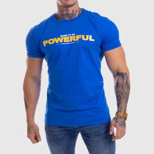 Ultrasoft tričko Iron Aesthetics Powerful, modré