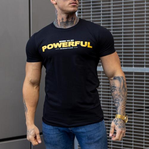 Ultrasoft tričko Iron Aesthetics Powerful, čierne