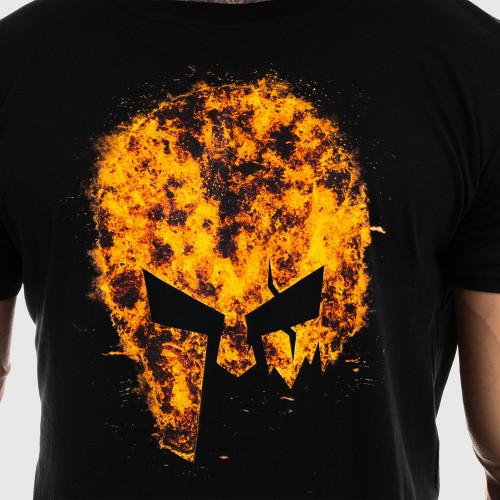 Ultrasoft tričko Iron Aesthetics Skull FIRE, čierne