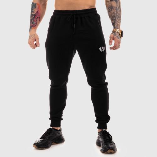 Jogger tepláky Iron Aesthetics Round, čierne