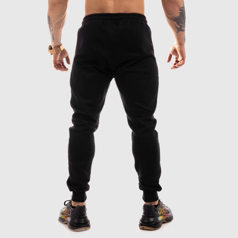 Jogger tepláky Iron Aesthetics Round, čierne-4