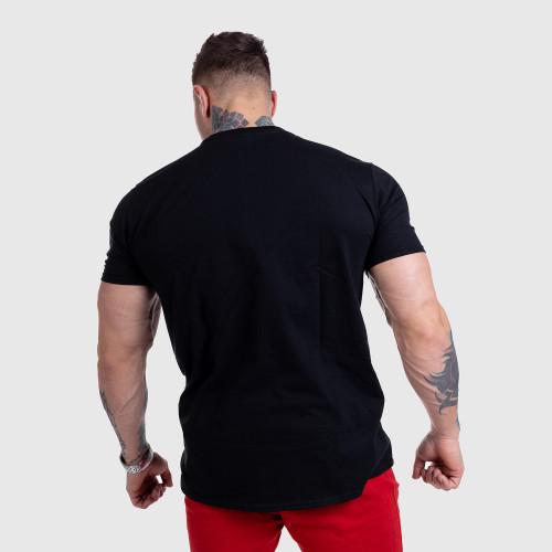 Ultrasoft tričko Iron Aesthetics Skull BLUE FIRE, čierne