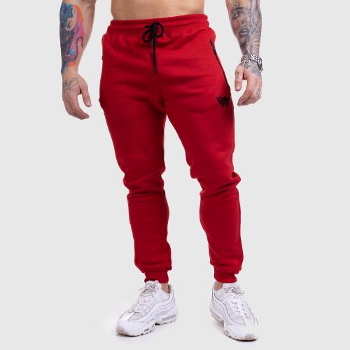 Jogger tepláky Iron Aesthetics Round, červené