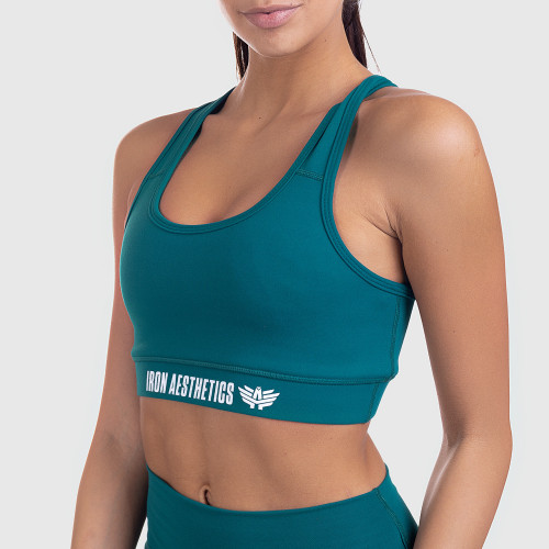 Dámska športová podprsenka STUFFED - Iron Aesthetics, smaragd